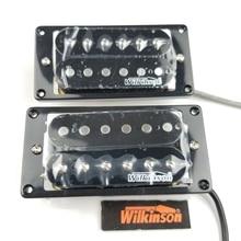 Wilkinson Pastillas Humbucker para guitarra eléctrica, doble bobina, abierta, color negro (puente y par de cuello)