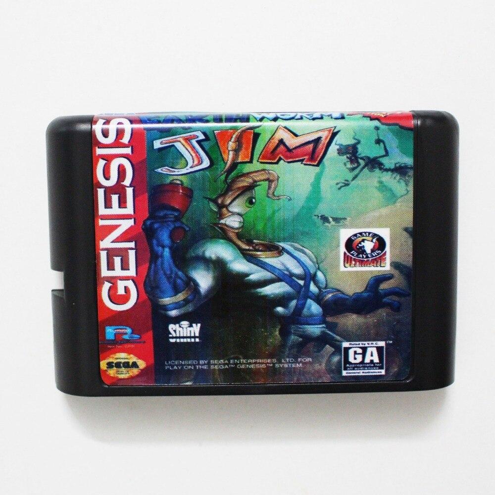 Earth Worm Jim 16 bit MD Game Card For Sega Mega Drive For GenesisEarth Worm Jim 16 bit MD Game Card For Sega Mega Drive For Genesis