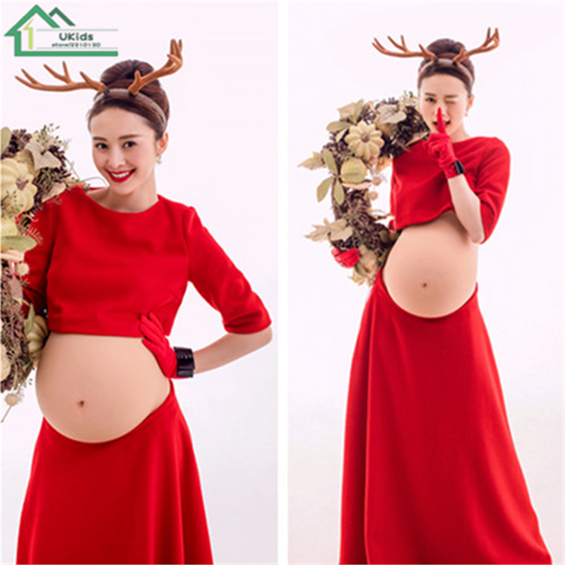 Pregnant Women Photo Shoot Studio Dress Set 2016 New Fashion Summer Maternity Women Photography Clothing Fancy Pregnancy Clothes