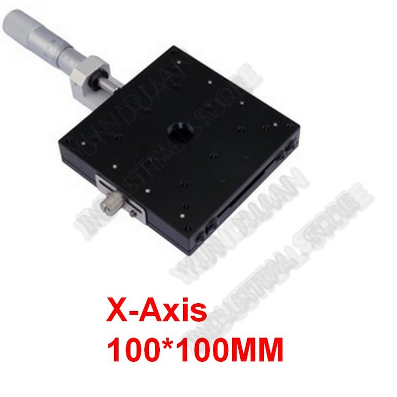 X Axis 100*100mm Manual Micrometer   Linear Stage Displacement Platform High Precision Cross Roller Guide Way LX100-CX Axis 100*100mm Manual Micrometer   Linear Stage Displacement Platform High Precision Cross Roller Guide Way LX100-C