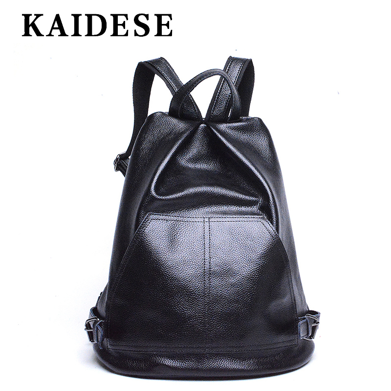 KAIDESE top leather ladies backpack 2018 New Fashion Institute shoulder bag travel large capacity casual bag скейтборды larsen скейтборд kids 2