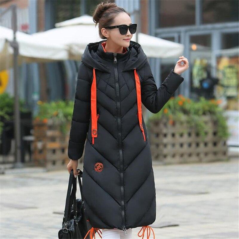 ФОТО Windbreaker Winter Women Long coat thicker down jacket warm clothes Parka