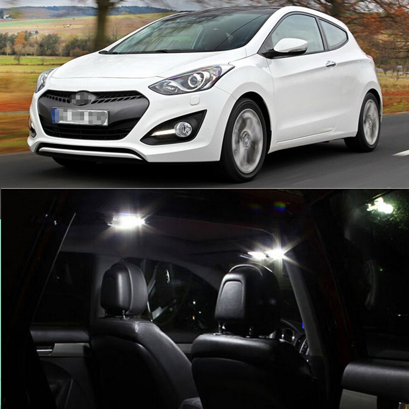 4pcs Per Set LED Bulb For Hyundai I30 2013 Interior  Dome Map Trunk  Lights Package Kit  Car-stying