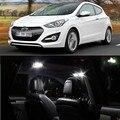 4pcs per set LED Bulb For Hyundai I30 2013 Interior  Dome Map trunk  Lights Package Kit  car-stying