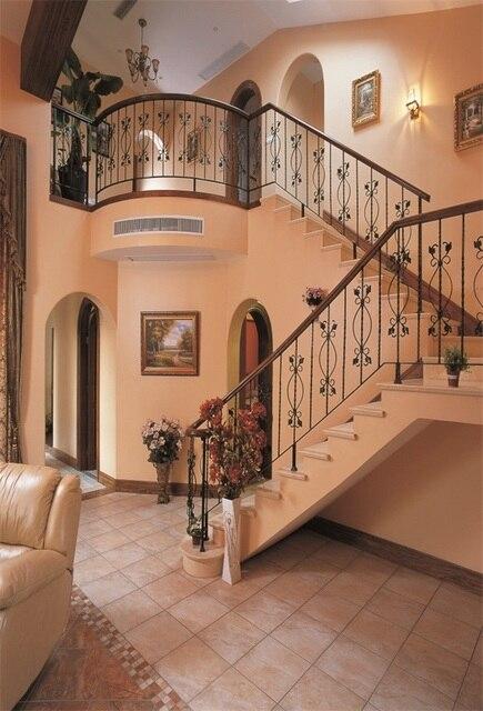 Laeacco retro casa escalera interior ver escena fotografía fondos ...