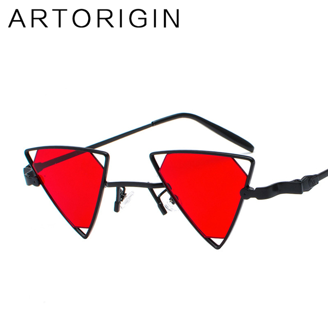 f0bc7d5dde2 ARTORIGIN Triangle Sunglasses Women Hollow Out Tint Lens Metal Sun Glasses  Women Personality Fashion sunglass Female 9822
