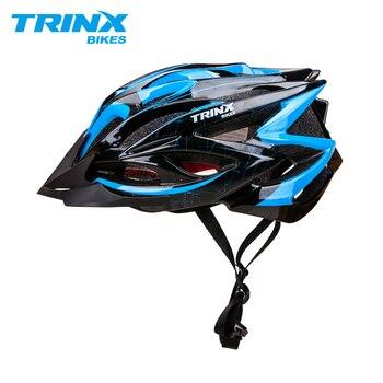 TRINX 자전거 헬멧 사이클링 헬멧 자전거 헬멧 전문 MTB 산악 도로 헬멧 레이싱 자전거 조정 가능한 안전 캡