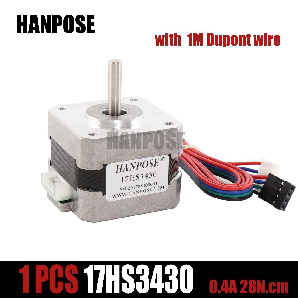Free shipping 3D Printer -- Nema17 for 12VDC 2800g.cm 34mm length 4-Lead 17HS3430 17 motor Stepper Motor for CNC барабан dr 2335