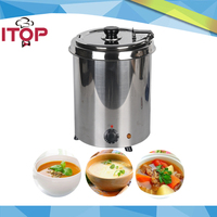 Water Bath Soup Warmer 5 7L 10L Stainless Steel Pot 110V 220V Commercial Bain Marie Cafeteria