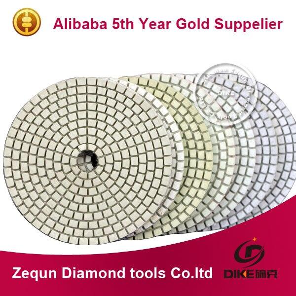 Free shipping 5 125mm with 2 5mm flexible diamond dry granite polishing padsfor Terrazzo Concrete Engineered