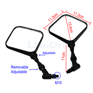 Image 2 - LMoDri Black Dual Sport Motorcycle Mirrors Side Mirrors For Suzuki DR 200 250 DR350 350 DRZ 400 650 DR650 2Pieces/lot