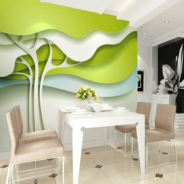 Beibehang Custom 3d Wallpaper Leaves Modern Minimalist Wall Mural For Kitchen  Wall Backdrop Home Improvement Non