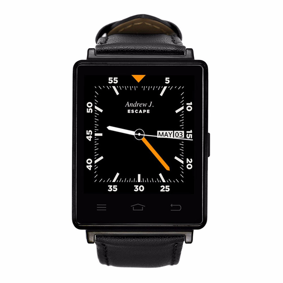 Bluetooth Smart Watch D6 Wearable Device font b Smartwatch b font MTK6580 Quad Core Android 5