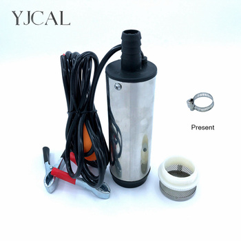 Submersible Diesel Fuel Water Oil Suction Pump With Filter Accessories Stainless Steel DC 12V 24V 30L/Min 60W Car Portable submersible diesel fuel water oil suction pump with filter accessories stainless steel dc 12v 24v 30l min 60w car portable