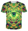 Abstract art All Seeing eyes t shirt Psychedelic print T-shirt men women summer tee tops colorful harajuku shirts 2017 Alisister