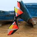 Cor vermelha 7.5ft Linha Quad Stunt Kite 4 Esporte Linha de Pipa Com Linha de Pipa Pipa Voando Ferramenta Corda Alças De Controle