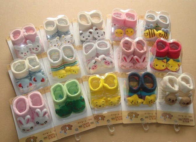 ; детские носки для малышей; 3 пар/лот; 3 desigen. Многие desigen