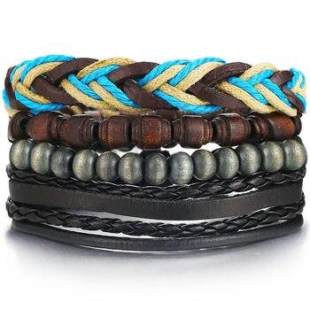 Vintage Multilayer Leather Bracelet for Men Bracelets Jewelry Men Jewelry New Arrivals Metal Color: FDY986