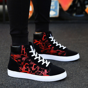 Image 5 - Cresfimix zapatos hombre male fashion new stylish black pattern high shoes men cool spring & autumn comfy lace up shoes a2098