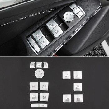 Car Window Glass Lift Button Sticker For Mercedes Benz A B C E GLA CLA GLK GL ML GLE Class 1