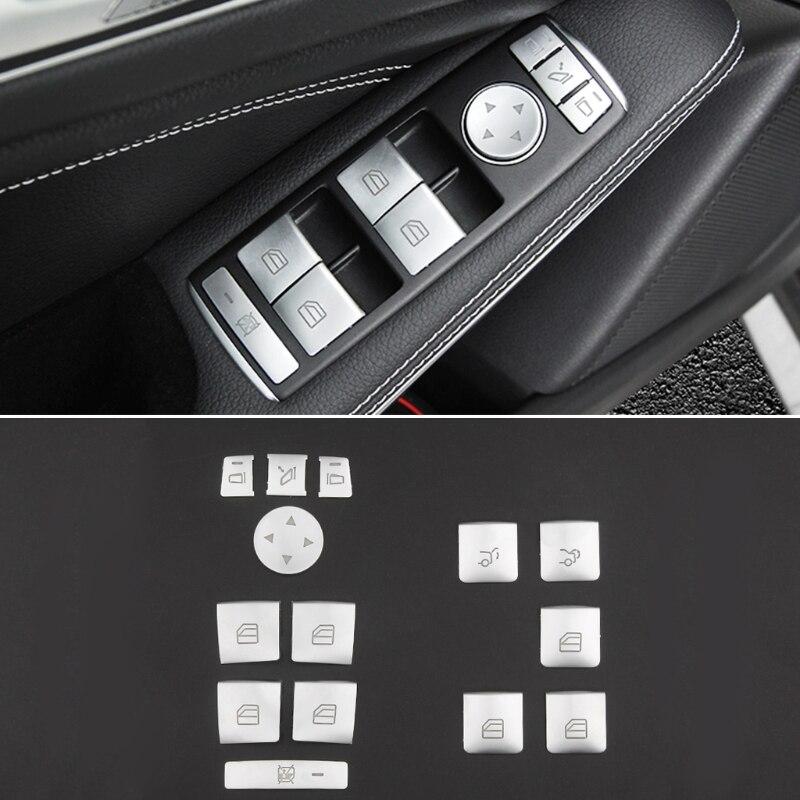Наклейка на кнопку подъема стекла для автомобиля Mercedes Benz A B C E GLA CLA GLK GL ML GLE Class