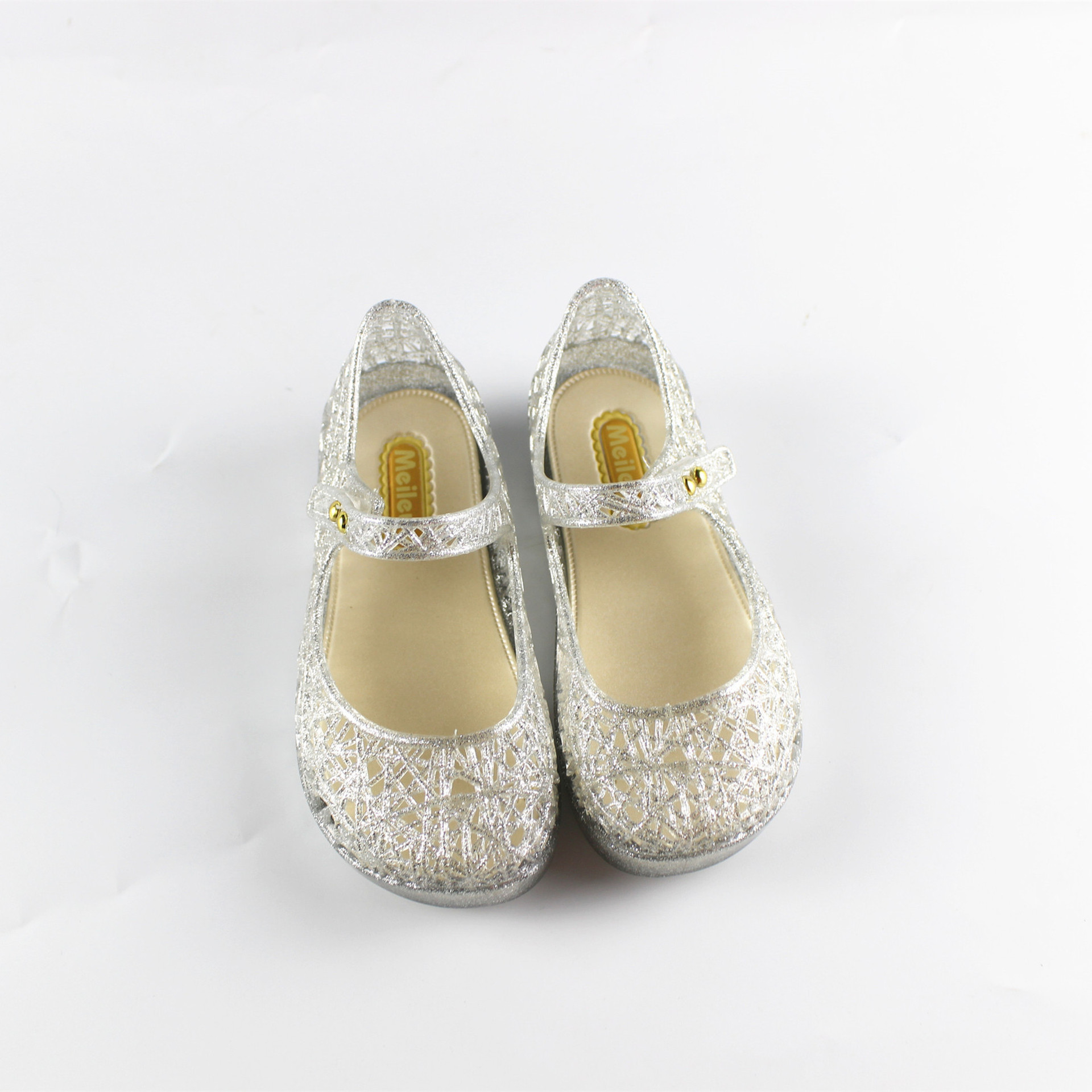 Mini Melissa Crystal Shoes 2017 New Children'S Mesh Hole Shoes Girls Sandals Jelly Shoes Sandals Shoes For Girls 15-18cm