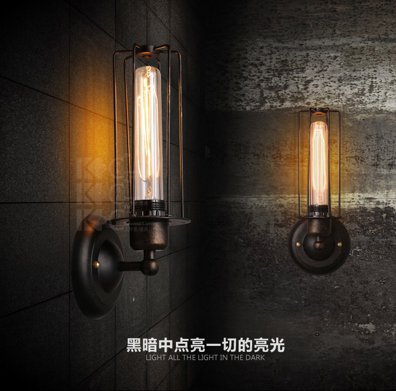 Loft American Industrial style Vintage Wall Lamp Bar Creative Wall Lights Wrought iron Edison Industrial Wall Sconce Lighting led lamp creative lights fabric lampshade painting chandelier iron vintage chandeliers american style indoor lighting fixture
