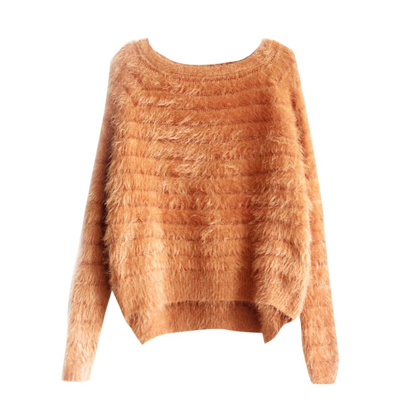 New 2018 Women Long Sleeve Sweater Autumn Winter Head Tide Thickened Loose Sweaters Pullovers Knitted Pullover For Female