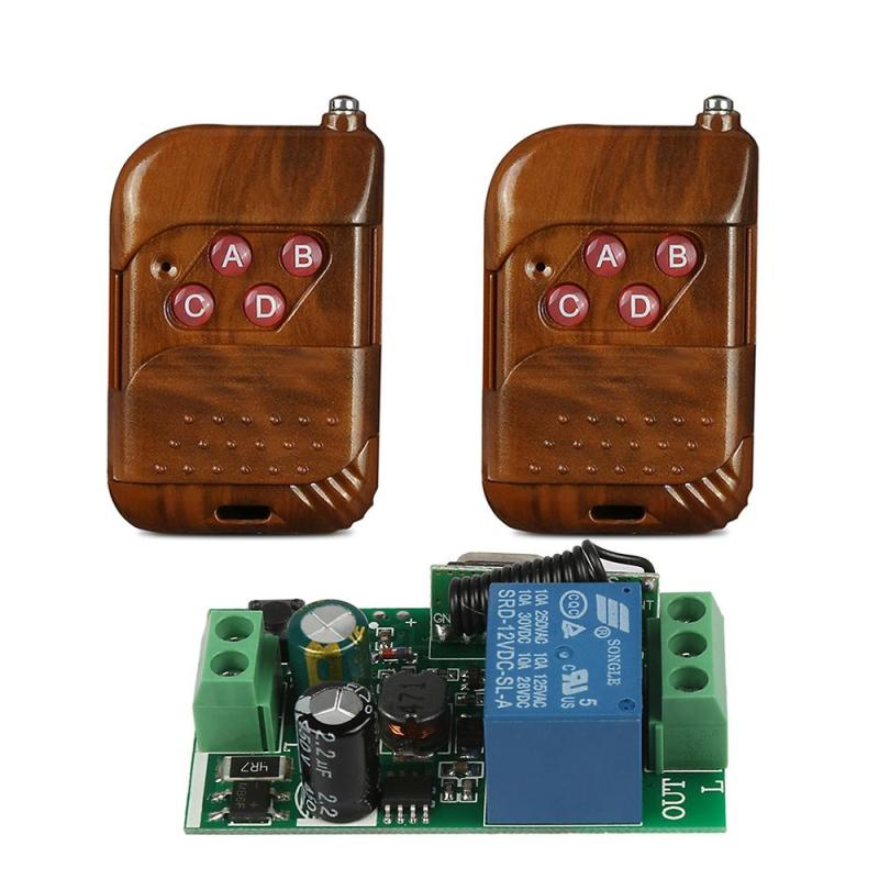 433 MHz RF 4 Channel Remote Control Learning Code 1527 Transmitter And AC 220V 1CH Relay Receiver Module DIY Controller Switch