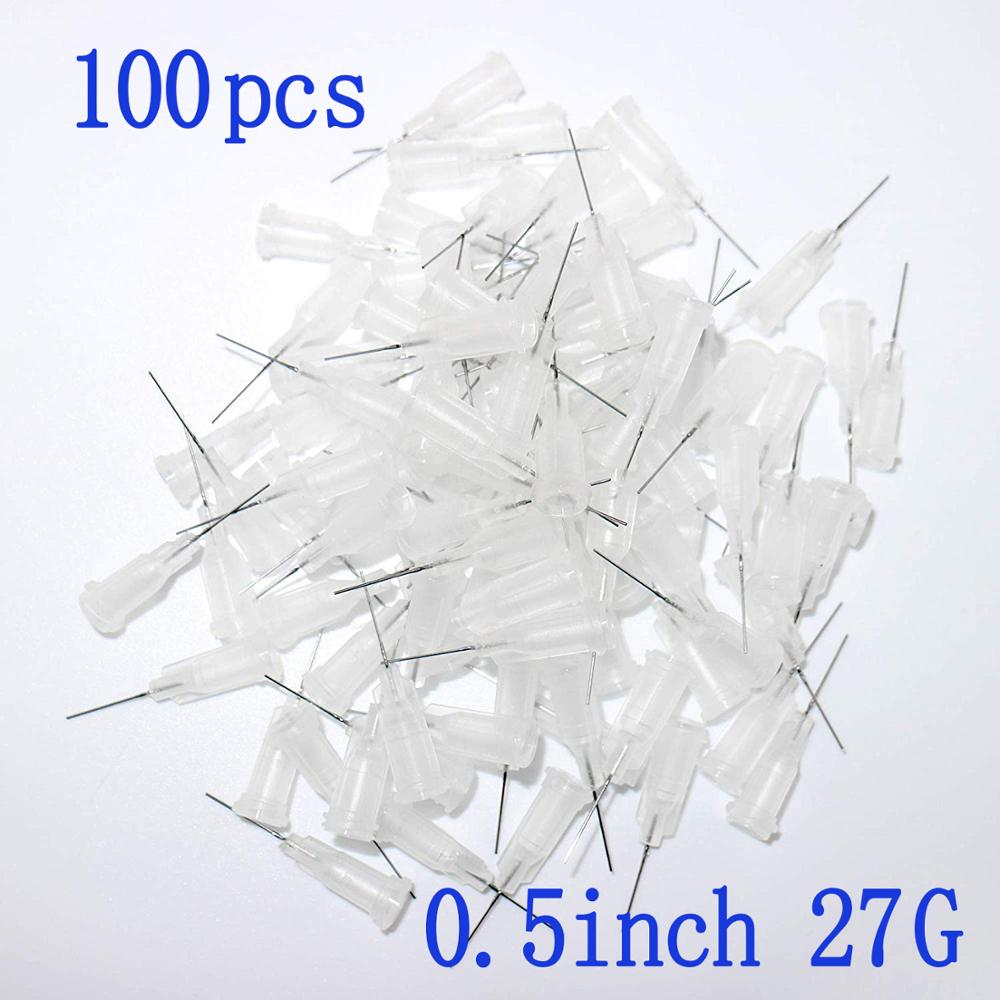 100pcs Dispensing Needles Syringe Needle 27Gauge x 0 5 quot 0 5inch Length Blunt Tip with Luer Lock For Mixing Many Liquid 27Ga in Epoxies from Home Improvement
