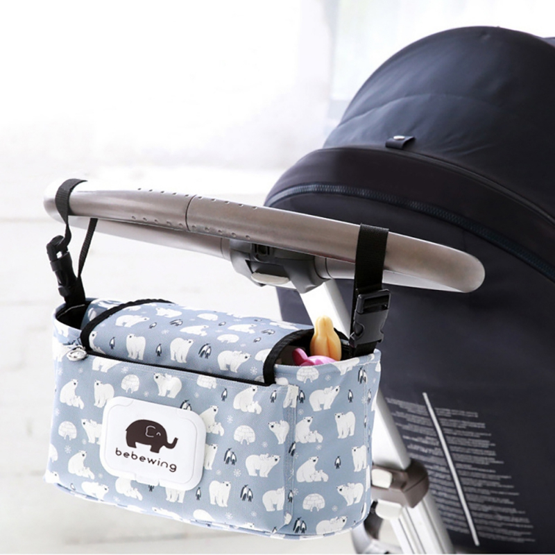 Baby Stroller Organizer Baby Diaper Bag Mummy Bag Hook Accessories Stroller Baby Carriage Proof Water Large Capacity Diaper T