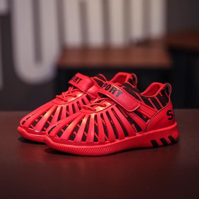 2017 de punto yeezy running shoes zapatillas de chicos de los niños niñas zapatillas de deporte respirables yeezy shoes kids 3d líneas de goma zapatillas de deporte
