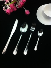 0 4PCS SET stainless steel knife and fork dinnerware food tool