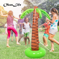 Summer Water Spray Baby Bath Pool Inflatable Sprinkle Coconut Tree Children Garden Lawn Play Water Park Outdoor Beach Ball Toy
