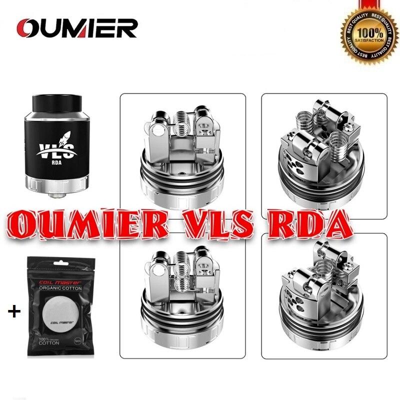 все цены на Original OUMIER VLS RDA Vape Tank 1.5ml 24mm Rebuildable Dripping Atomizer 810 Drip Tip Fit 510 Thead SMOK Squonk Box Mod Vaper