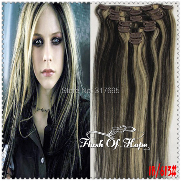 15inch 16 Clips In Remy Real Hair Extensions Full Head Brazilian