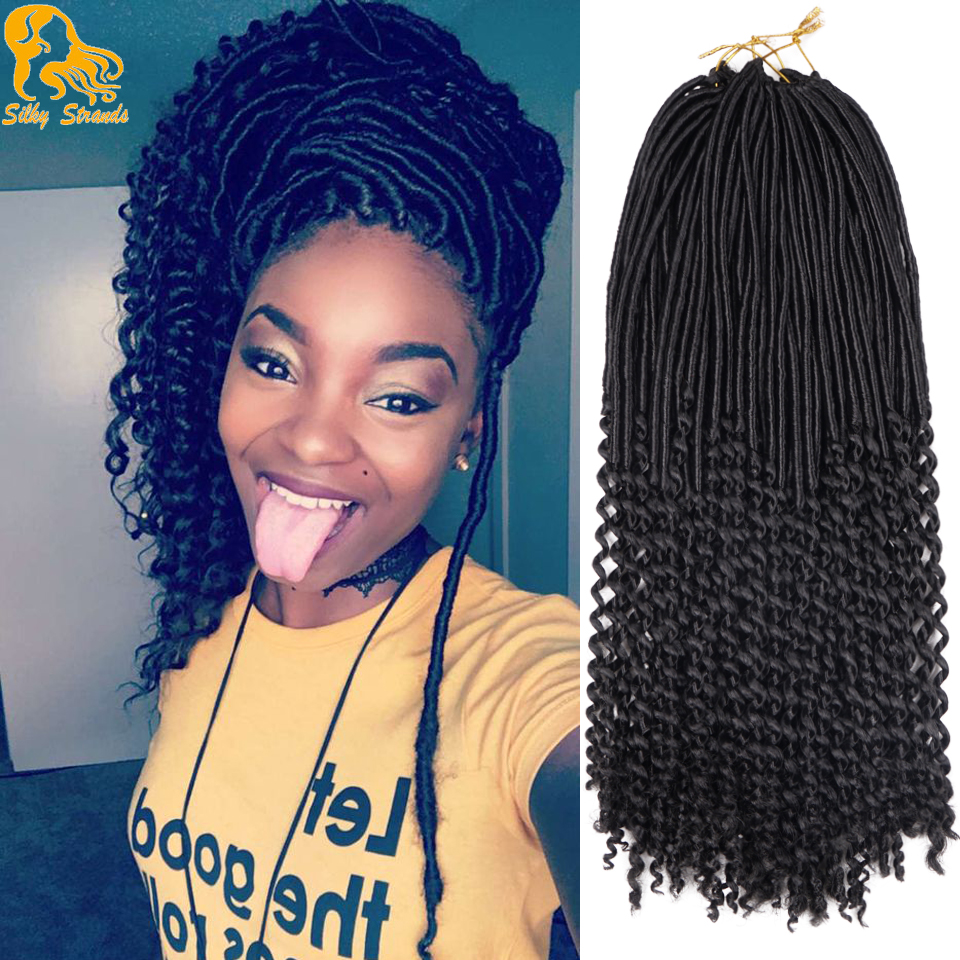 Aliexpress Com Buy Curly Faux Locs Crochet Hair Goddess