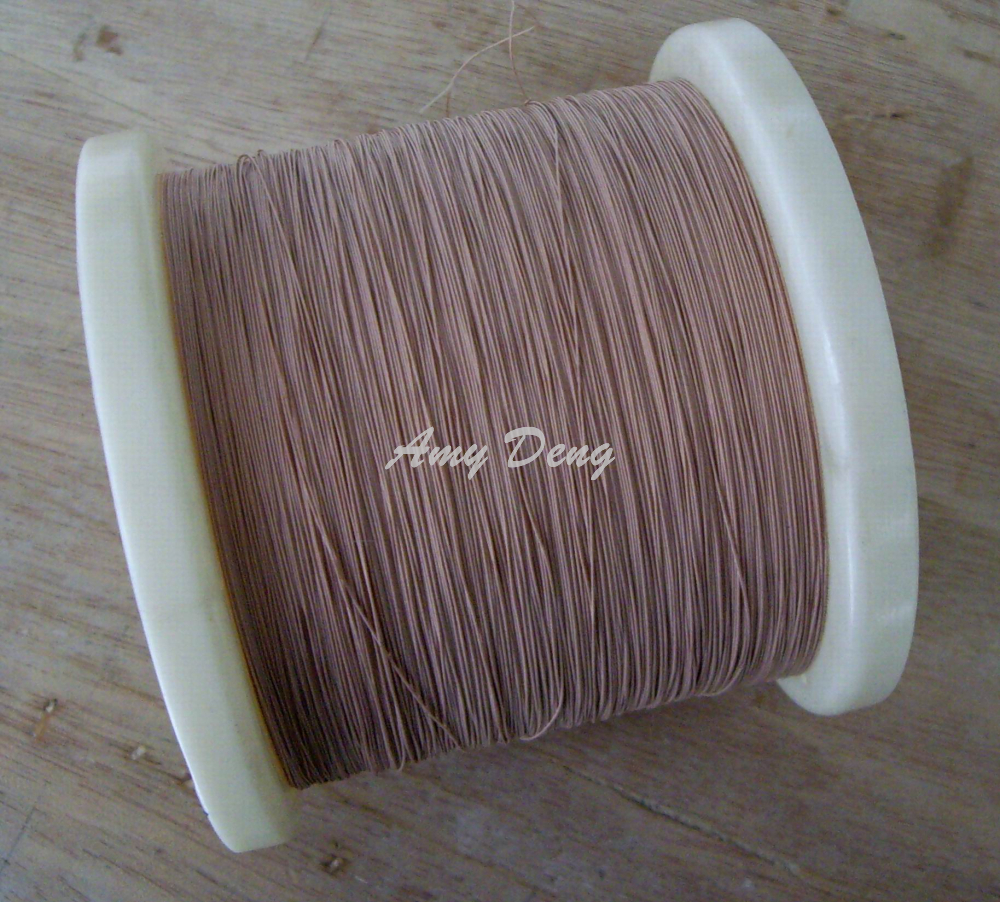 200 Meters/lot  0.1x7 Shares Liz Mul Strand Polyester Cotton Copper Wire