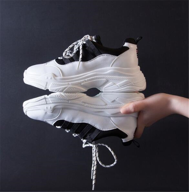 Femenina Okhotcn Plataforma Moda Casual Zapatos As Blanco Negro as Marca Picture Sapato Tenis Lujo Picture Krasovki Superstar Feminino rtwIwqH