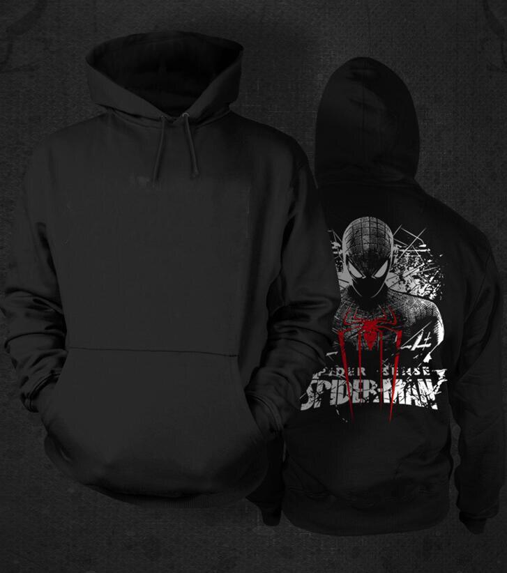 New Winter Warm <font><b>spiderman</b></font> spider-man Hoodies Marvel Hooded Coat <font><b>men</b></font> casual <font><b>cardigan</b></font> Jacket Sweatshirt