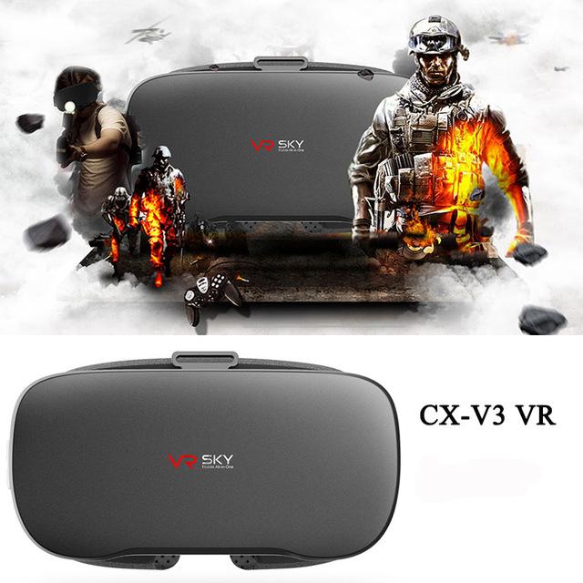 Prix pour DMYCO Original VR BOÎTE CX-V3 VR Immersive 3D Lunettes de Réalité Virtuelle Casque wifi + BT4.0 CPU Allwinner H8 FHD pour film lecteur