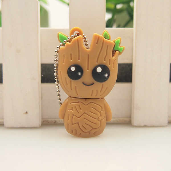 Wholesale cartoon usb pendrive usb 2.0 flashdrive 128mb memory disk 32gb 64gb high speed flash drive free shipping usb flash