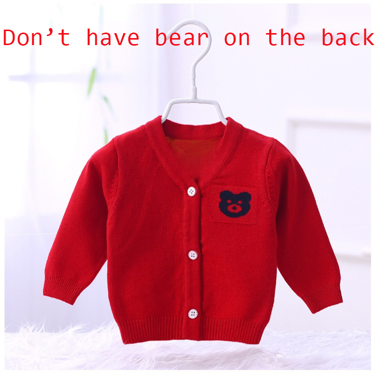Baby Girls Toddler 1-8T Crew Neck Button-down Hearts Print Cotton Knits Cardigan Sweaters Coat Jacket Outerwear