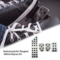 Non slip Footrest Pedal Durable Accelerator Pedal For Peugeot 508 Citroen C5 Auto Gas Foot Rest Modified Pedal Pad Plate