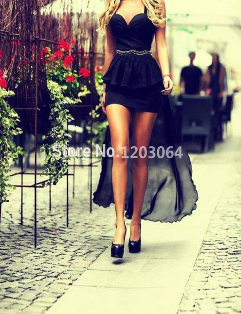 Black dress we heart it - High Low Black Prom Dresses 2016 Beading Short Prom Dresses For High School Camo Prom Dress Sexy Sweetheart Ombre Prom Dress