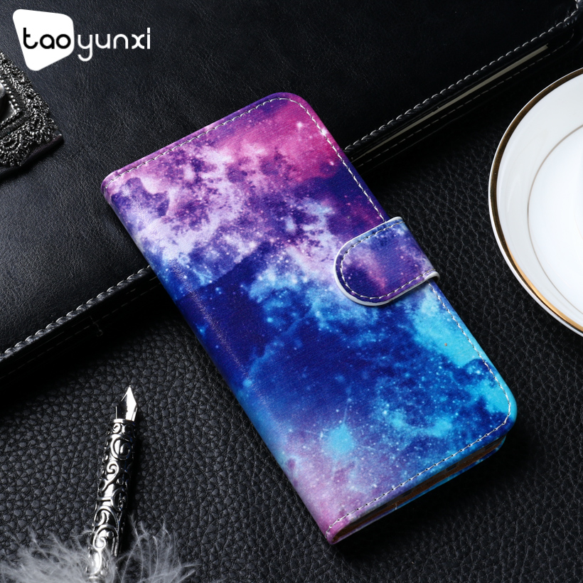 TAOYUNXI PU Leather Case For Alcatel 1 5033D Case Flip Wallet Painted Cases For Alcatel 1 Cover Coque Flower Animal Bags 5.0inch