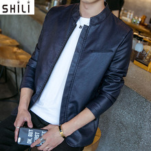 New Men Leather Jacket Fashion Autumn Motorcycle PU Leather Male Winter Jackets Outerwear Coats Faux Leather Coat M-5XL