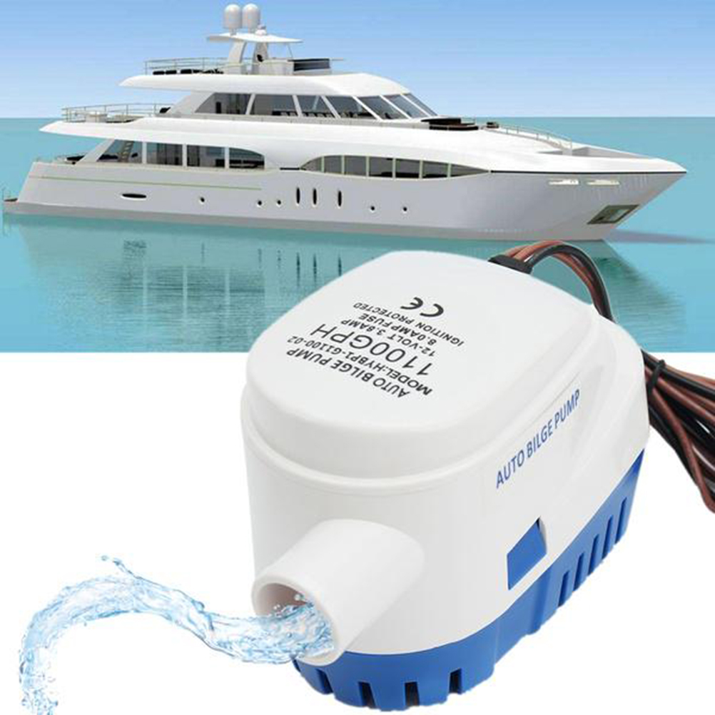 12v 1100 gph Automatic Submersible Boat Bilge Water Pump Auto with Float Switch