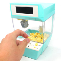 Kids Coin Operated Games Mini Claw Hanging Doll Machine Dolls CATCHER Toy Crane Machines Children Candy Alarm Clock Play Game