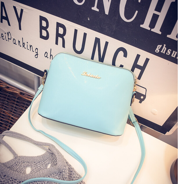 The new high-quality PU leather candy shell shoulder women bag /Tiepai / retro fashion packet /sweet girls shopping bag/6 colors